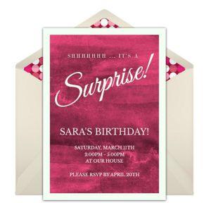 Online Surprise Invitations