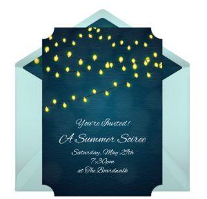 Online Evening Celebration Invitations