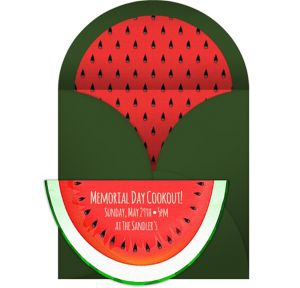 Online Whimsical Watermelon Invitations