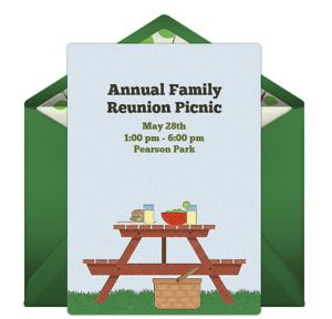 Online Picnic Table Invitations