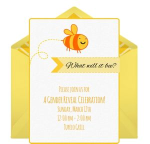 Online Bumble Bees Invitations