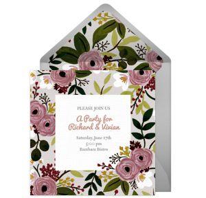 Online Antique Rose Invitations