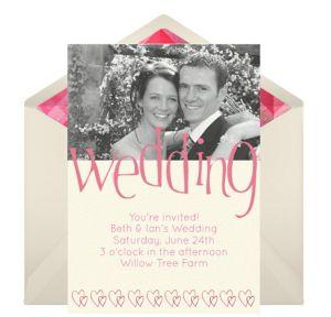 Online Wedding Day Photo Invitations