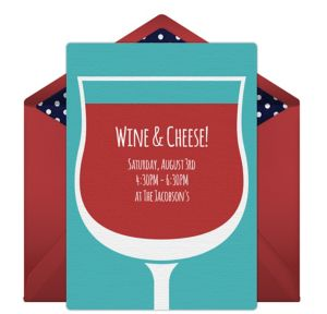 Online Wine Time Invitations