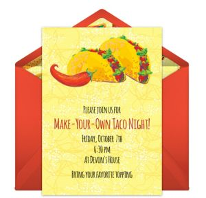 Online Taco Invitations