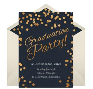 Online Graduation Dots Invitations