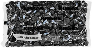 Black Milk Chocolate Hershey's Kisses 410ct