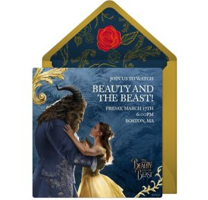 Online Beauty and the Beast Invitations