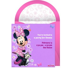 Online Minnie Mouse Invitations