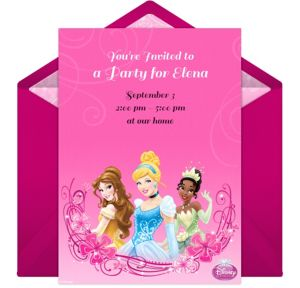 Online Disney Princess Invitations