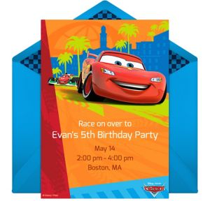 Online Cars Invitations