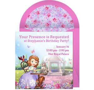 Online Princess Sofia Invitations