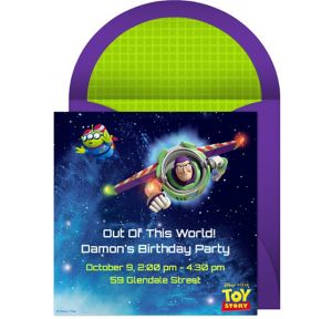 Online Toy Story Invitations