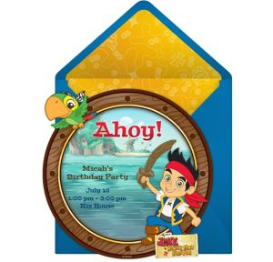 Online Jake and the Never Land Pirates Invitations
