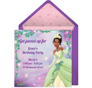 Online Princess and the Frog Invitations
