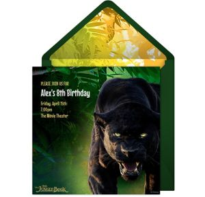 Online The Jungle Book Invitations