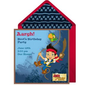 Online Jake the Pirate Invitations