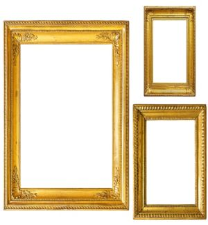 Gold Photo Booth Frames 3ct