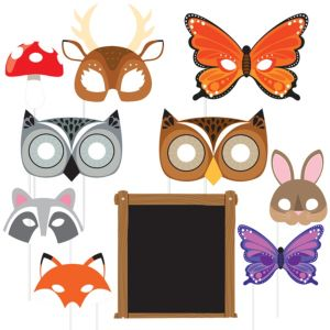 Forest Animal Photo Booth Props 10ct
