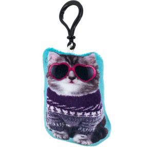 Clip-On Ugly Sweater Cat Plush
