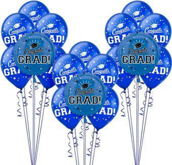 Blue Graduation Balloon Kit