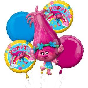 Giant Poppy Balloon Bouquet 5pc - Trolls