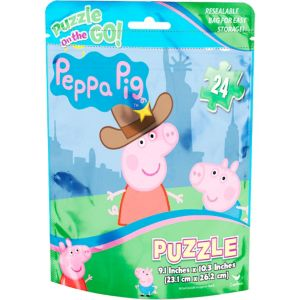Peppa Pig Puzzle Bag 24pc