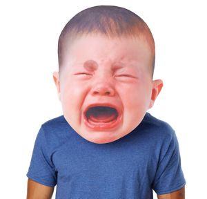 Adult Oversized Crying Baby Mask