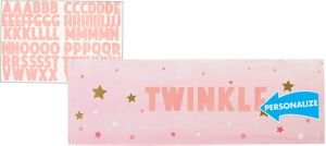 Giant Pink Twinkle Twinkle Little Star Personalized Banner Kit