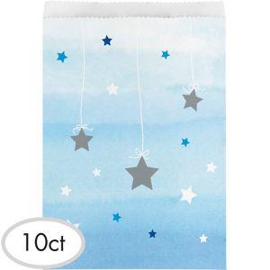 Blue Twinkle Twinkle Little Star Treat Bags 10ct