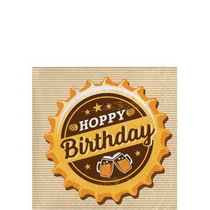 Hoppy Birthday Beverage Napkins 16ct