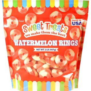 Watermelon Rings Gummy Candy 110pc