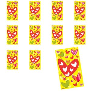 Jumbo Hearts Stickers 24ct