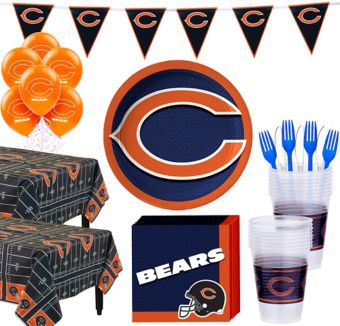 Chicago Bears Deluxe Party kit for 36 Guests