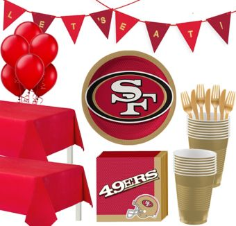 San Francisco 49ers Deluxe Party kit for 36 Guests