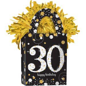 Prismatic 30th Birthday Balloon Weight - Sparkling Celebration