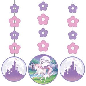 Unicorn String Decorations 3ct