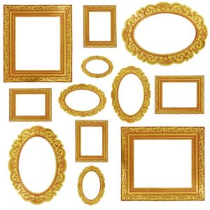 Gold Frame Photo Booth Props 12ct