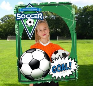 Sports Frame Photo Prop--Soccer