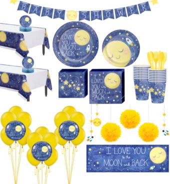 Moon & Stars Premium Baby Shower Party Kit for 32 Guests