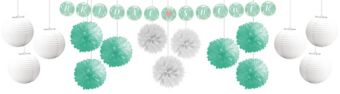 Mint to Be Bridal Shower Ceiling Decorating Kit