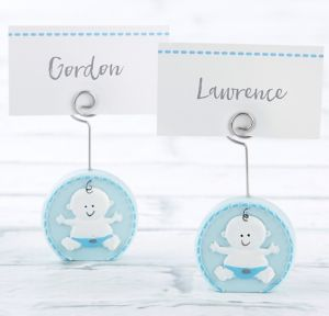 Baby Boy Blue Place Card Holders 6ct