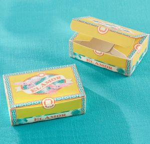 Cigar Box Favor Boxes 24ct