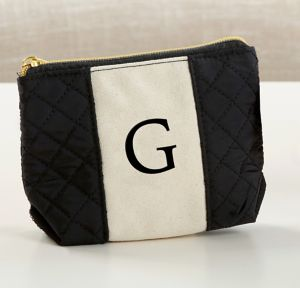 Black & White Monogram G Makeup Bag