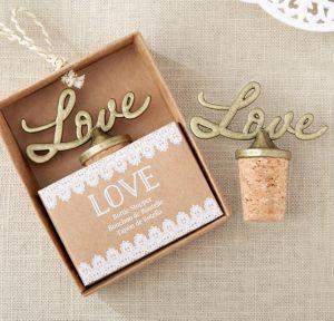 Gold Love Bottle Stopper