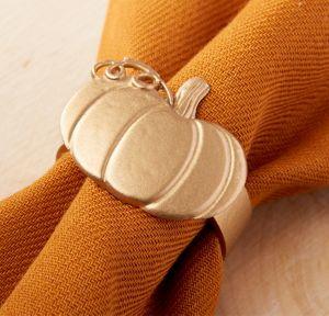 Pumpkin Napkin Rings 4ct