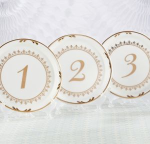 Tea Time Plate Table Numbers 1-6