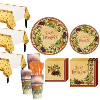 Thanksgiving Medley Tableware Kit for 32 Guests