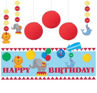 Carnival 1st Birthday Decorating Kit