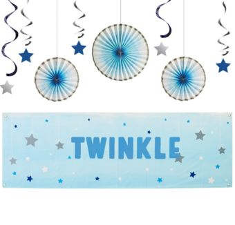 Blue Twinkle Twinkle Little Star Decorating Kit